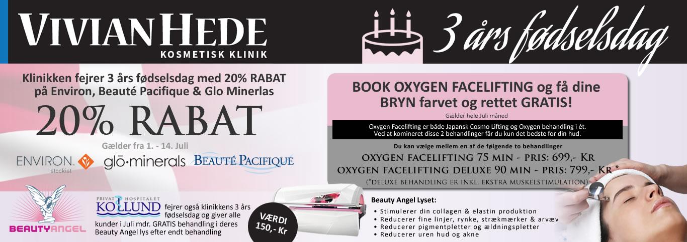 Vivian Hede Kosmetisk Klinik - 3 års fødselsdag