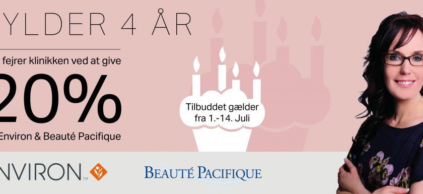 Vivian Hede Kosmetisk Klinik har 4 års fødselsdag